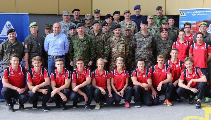 Militärattachékorps besucht Heeres-Leistungssport-zentrum & Olympiazentrum 01